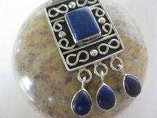 grade sterling, awesome art Lapis Silver Pendant ~ High