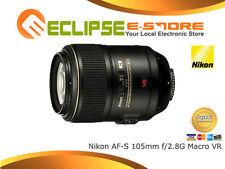 New Nikon AF-S 105mm f/2.8G Macro VR F2.8 G 1 Yr Au W