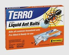 TERRO *6 Pack Outdoor Indoor Liquid Ant Killer Bait Tray Traps Ready To Use T300