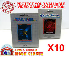 10x VECTREX CIB GAME - CLEAR PLASTIC PROTECTIVE BOX PROTECTOR SLEEVE CASE