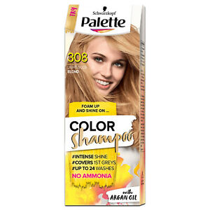 Genuine Schwarzkopf Palette Hair Color Shampoo dye 308 Golden Blond Ammonia FREE
