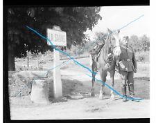 Négatif photo cavalier allemand La Saône Aufklärung-Abteilung Reiter Kavallerie