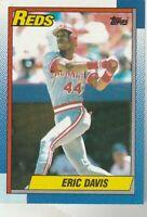 FREE SHIPPING-MINT-1990 Topps Eric Davis Cincinnati Reds 260 PLUS BONUS CARDS