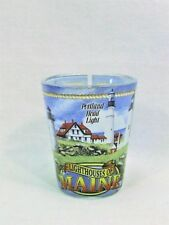Lighthouses Of Maine Shot Glass Beautiful Wrap-Around Lighthouse Design Scenery