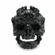 Black Gold Color Skeleton Bulk Jewelry New Punk Retro Skull Head Dragon Men Ring