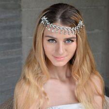 Bridesmaid Bridal Silver Wedding Crystal Droplet Hair Comb HairPiece Tiara Slide