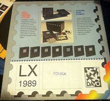 Davo Stamp Album Pages For Polska 1989 New In Package High Quality Tough to Find