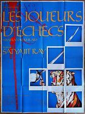 LES JOUEURS D'ÉCHECS * Satyajit RAY * Shabana AZMI * Affiche Originale 120 x 160
