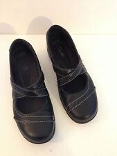 CLARKS MARYJANES Slip-on Women's size 7 Mary Janes BLACK Leather
