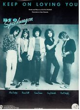 REO SPEEDWAGON-KEEP ON LOVING YOU-SHEET MUSIC-PIANO/VOCAL/GUITAR/CHORDS-1981-NEW