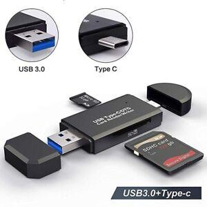 ✅USB 3.0 Typ-C Speicherkartenleser Kartenleser Micro SD Card Reader OTG Adapter✅
