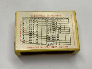 VINTAGE MATCHBOX MATCH BOX STRIKER ADVERTISING OLD COURSE ST ANDREWS TOM MORRIS