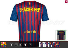"BARCELONA PLAYER ISSUE SHIRT ""PEP GUARDIOLA""  BAYERN / MANCHESTER CITY / MESSI"