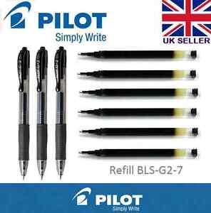Pilot Pen G207 Gel Ink Refill For G2 G2Ex G23 Alphagel Execugel Gelx BLACK