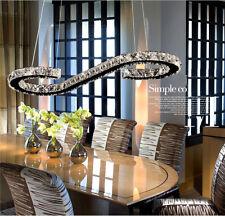 Modern LED S Crystal shade Chandelier Ceiling Pendant Dining Lighting Lamp Light