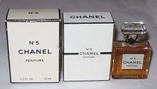 Vintage Perfume Bottle Chanel No 5 Bottle/Box 10 ML,1/3 OZ, Sealed, 3/4 Full, #2