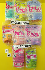 MIP SET 8 McDonald's 1993 BARBIE Doll STYLE HAIR Toys WESTERN Stampin COMPLETE