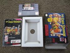 The Lost Vikings Super Nintendo SNES COMPLETE Game Cartridge+Box+Manual