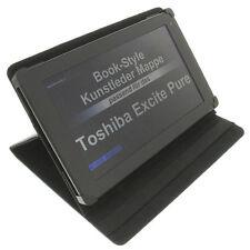 Funda para Toshiba Excite PURA Book Style Funda protectora tableta Soporte Negro