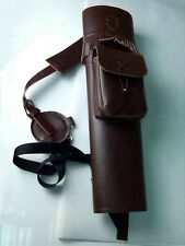 GP TRADITIONAL BACK BROWN SYNTHETIC LEATHER ARROW QUIVER