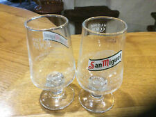 More details for san miguel branded half pint glasses x 2  brand new and unused