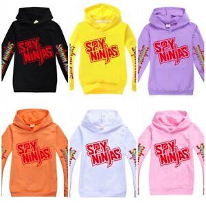 NEW Kids SPY NINJA CWC Inspired Hoodie Hooded Sweatshirt Youtuber Merch T-shirt