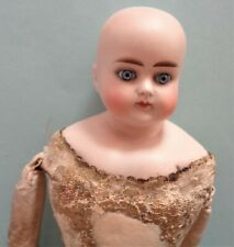 """Antique 14"""" Abg Bisque Dome Head, Closed Mouth, Body Needs Tlc"""