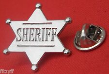 Sheriff Lapel Hat Cap Tie Pin Badge Cowboy Country Western Gift Souvenir Brooch