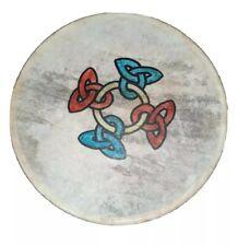 More details for malachy kearns roundstone goat skin bodhran irish drum celtic design rare 8