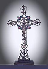 Kreuz Kruzifix Esotherik für Hausaltar als riesen Wegekreuz Eisen ein Hingucker