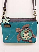 Chala Mini Crossbody Bag Small Convertible Purse Turtle Turquoise New