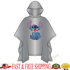 Disney Youth / Kids Stitch Rain Poncho Clear Disney Poncho Original