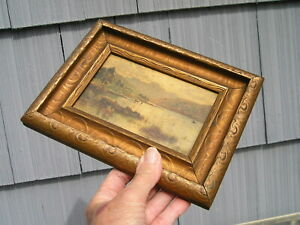 Nice Bronze Gold Finished Picture Frame Langdale Pikes Blea Tarn 3 1/2  5 1/4