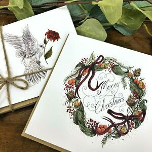 Charity Christmas Cards -Emmaus Oxford- Packs of 2, 6 or 12 with Envelopes
