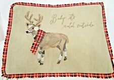 "Pottery Barn Chilly Reindeer ~ ""Baby It's Cold Outside""~ 12x16 Pillow Cover ~Nwt"