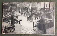 CPA. PARIS. Cie TRAMWAYS. Est Parisien. Ateliers Menuiserie. Machines Outils.