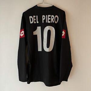 VINTAGE LOTTO JUVENTUS 2001-2002 AWAY SHIRT. DEL PIERO. SIZE M ADULTS. RARE