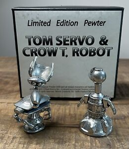 Clayburn Moore Mystery Science Theater 3000 Tom Servo Crow T Robot Pewter Figure