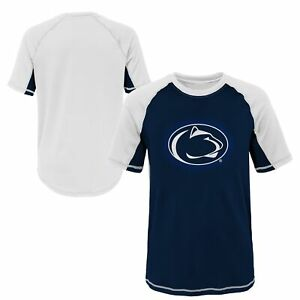 Outerstuff NCAA Youth Penn State Nittany Lions Color Block Rash Guard Shirt