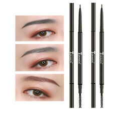 Fine Dual Ended Brow Tattoo Pen Eyebrow Pencil with Brush Automatic Rotate