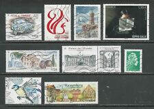 FRANCE - Oblitérés - 9 timbres gommés de 2018