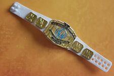 WWE Wrestling Mattel Figure Accessory Elite White Intercontinental Title Belt