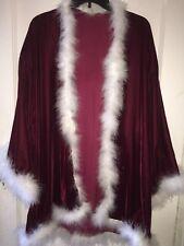 Handmade Velet Robe with Maribu Feathers, NEW IMPORTED VELVET, medium