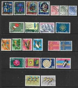 SWITZERLAND - 6 x Used (CTO) Sets - 1970/71 Issues