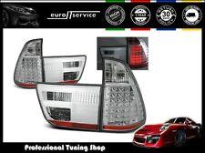 FEUX ARRIERE ENSEMBLE LDBM22 BMW X5 E53 1999 2000 2001 2002 2003 CHROME LED