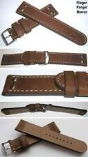 Fuerte vintage nietenuhrband echtlederuhrband con tachuelas 24 mm Ranger marron