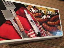 (NIB) ZIPPO MPL and BBQ Tong Gift Set (Advertising Gift from Big Bobs BBQ)