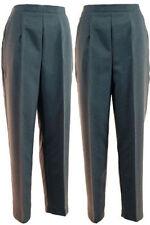 Pantaloni da donna grigia a gamba dritta