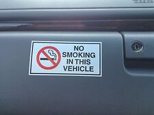 10 X NO SMOKING IN THIS VEHICLE STICKERS BEST QUALITY