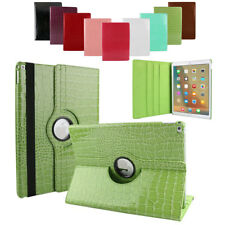 360 Rotating Crocodile Leather Stand Armor Case Cover For Apple iPad 2 3 4 Green
